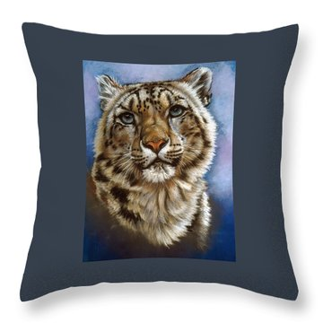 Throw Pillow featuring the pastel Jewel by Barbara Keith