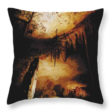 Jewel Cave V Throw Pillow