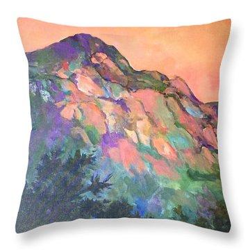 Jewel Mountain 1. Throw Pillow
