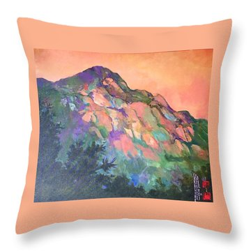 Jewel Mountain 1. Throw Pillow