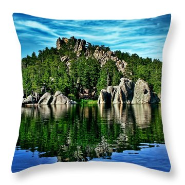 Jewel Of The Black Hills Throw Pillow