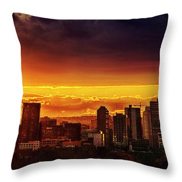 Jewel Of The Foothills Throw Pillow by John Poon
