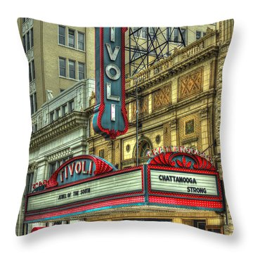 Jewel Of The South Tivoli Chattanooga Historic Theater Art Throw Pillow