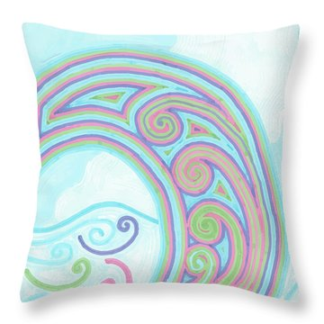 Jewel Sea Throw Pillow