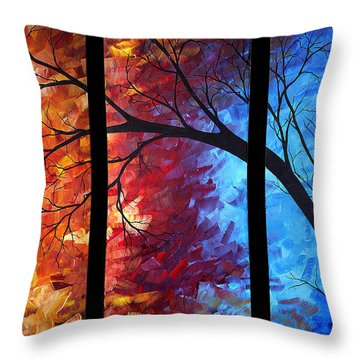 Jewel Tone II By Madart Throw Pillow by Megan Duncanson