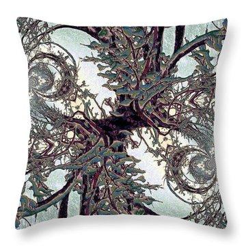 Jewel Tree Throw Pillow