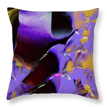 Jeweled Amethyst Throw Pillow