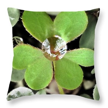 Jeweled Clover Throw Pillow