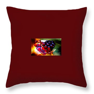 Throw Pillow featuring the painting Jeweled Heart In Light And Dark by Genevieve Esson