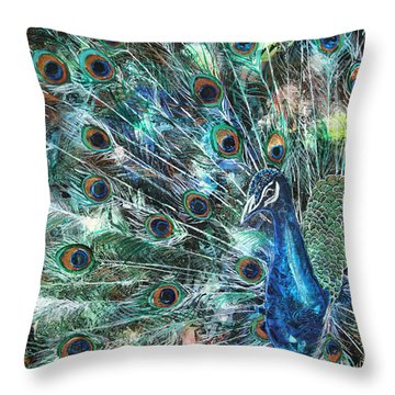 Jeweled Throw Pillow by Patricia Allingham Carlson