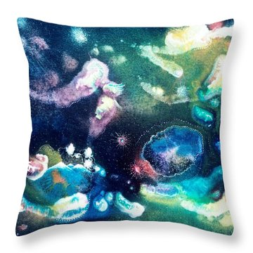 Jeweled Pegasus Throw Pillow by Lee Pantas