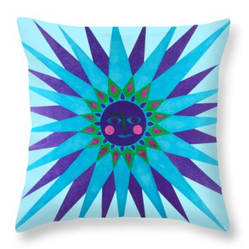 Jeweled Sun Throw Pillow