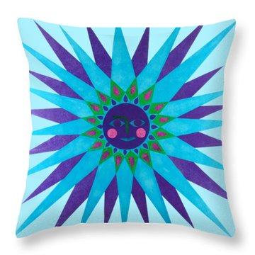 Jeweled Sun Throw Pillow