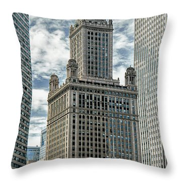 Jewelers Building Chicago Throw Pillow by Alan Toepfer