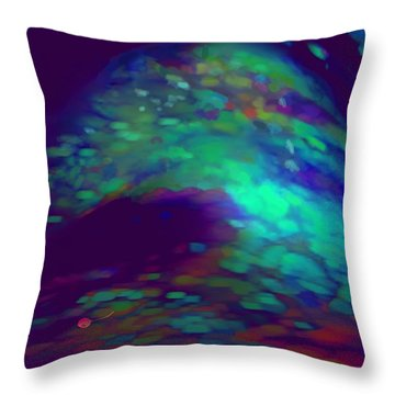 Jewelled Cave Of Dreams Throw Pillow by Mathilde Vhargon