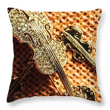 Jewellery Concerto Throw Pillow