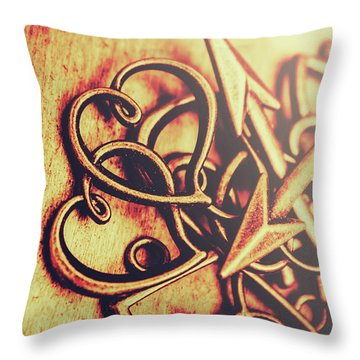 Jewelry Love Background Throw Pillow