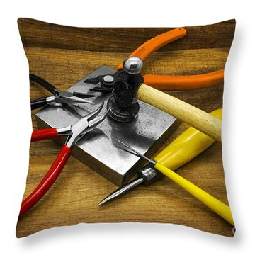 Jewelry Making Tools Throw Pillow