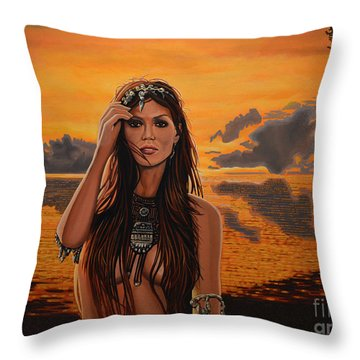 Jewels Of Costa Rica Throw Pillow