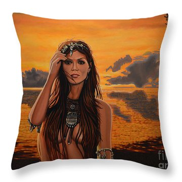 Jewels Of Costa Rica Throw Pillow by Paul Meijering