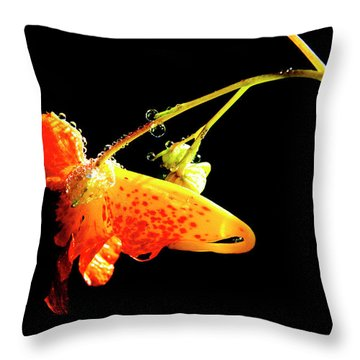 Jewels Of Dew Throw Pillow by Thomas R Fletcher