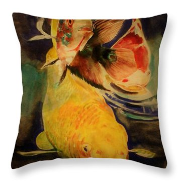 Jewels Of Lakes. Throw Pillow