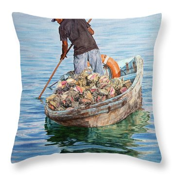 Jewels Of The Sea Throw Pillow