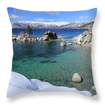 Jewels Of Winter Throw Pillow