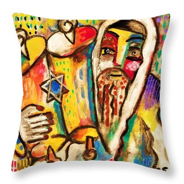 Jewish Celebrations Rejoicing In The Torah Throw Pillow