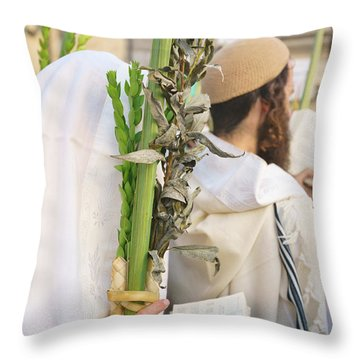 Jewish Sunrise Prayers At The Western Wall, Israel 11 Throw Pillow