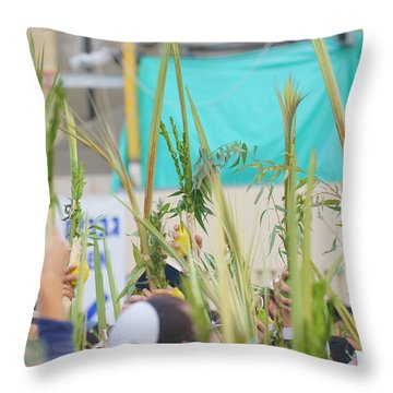Jewish Sunrise Prayers At The Western Wall, Israel 13 Throw Pillow