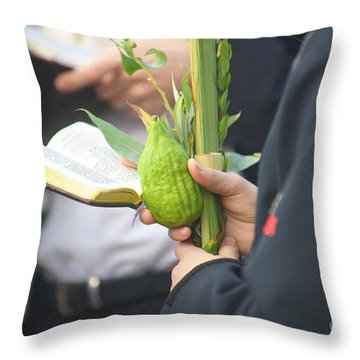 Jewish Sunrise Prayers At The Western Wall, Israel 3 Throw Pillow