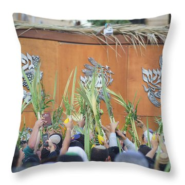 Jewish Sunrise Prayers At The Western Wall, Israel 4 Throw Pillow