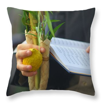 Jewish Sunrise Prayers At The Western Wall, Israel Throw Pillow
