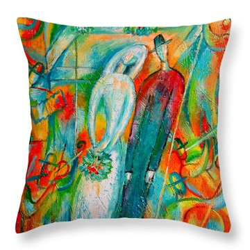 Jewish Wedding Throw Pillow