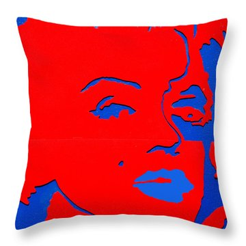 Jfk And The Other Woman Throw Pillow by Robert Margetts