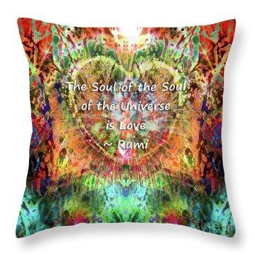 Throw Pillow featuring the digital art Soul Of The Soul by Atousa Raissyan