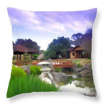 Throw Pillow featuring the photograph Jg-0021 Kotaji Lantern by Digital Oil