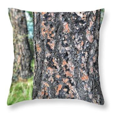 Jigsaw On A Pine Throw Pillow