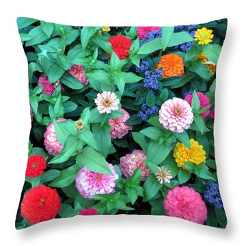 Jigsaw Puzzle? Throw Pillow by Betty Buller Whitehead