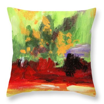 Jill's Abstract Throw Pillow by Jamie Frier