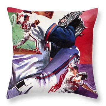 Jim Abbott Throw Pillow by Ken Meyer jr