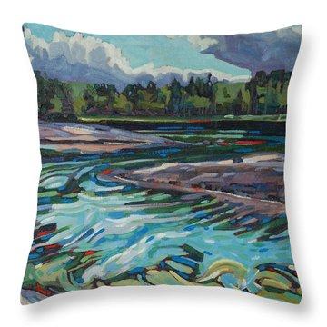 Jim Afternoon Rapids Throw Pillow