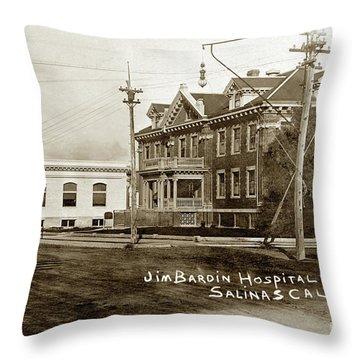 Jim Bardin Hospital The Hospital Was Located On The E Side Of Main Street  Circa 1910 Throw Pillow