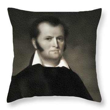 Jim Bowie - The Alamo Throw Pillow