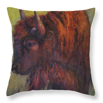 Jim Brown Throw Pillow by Susan Williamson
