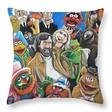 Jim Henson And Co. Throw Pillow