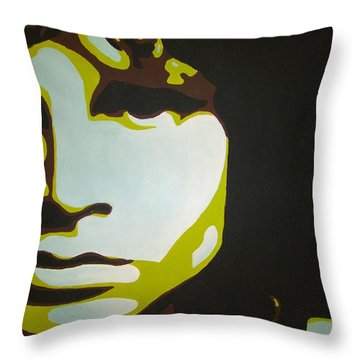 Jim Morrison Throw Pillow