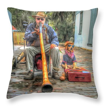 Jim Olds And Tanner Throw Pillow by Marion Johnson