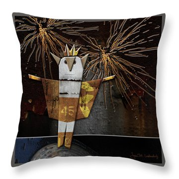 Jim The God Of July Throw Pillow by Joan Ladendorf